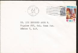 A) 1970 MEXICO, ARCHITECTURE, PUEBLA CATHEDRAL, TAXCO, GRO TOWN, AIRMAIL, CIRCULATED COVER IN MEXICO. - Mexico