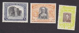 Panama, Scott #C119, C133, C167, Mint Hinged, University Of San Javier, Isabella, Col. Armas, Issued 1949-56 - Panama