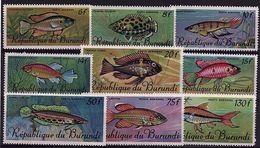 BD 25 - BURUNDI PA N° 62/70 Neufs** Poissons Divers - Burundi