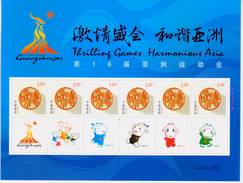 CHINA 2010-27 Opening Ceremory Of 16th Asian Games Special Sheet - 1949 - ... Volksrepubliek