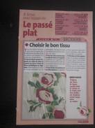 Ouvrage Tricot-8 Motifs Le Passe Plat-points Droit - Feston -bourdon-Loisirs Créatifs Vintage Décor-fleurs-Fiche N°1 - Laine