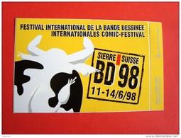 Festival International De La Bande Dessinée, Internationales Comic-festival,  Sierre, Valais, Suisse, BD 98,1998 - Autocollants