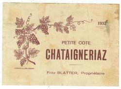Rare // Petite Côte 1938, Fritz Blatter  // Suisse - Etiquettes
