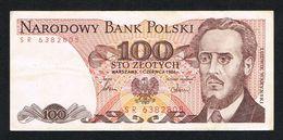 °°° POLEN 100  ZLOTYCH  1986 - Pologne