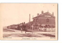 CPA 02 Fresnoy Le Grand La Gare Et Le Train - Andere Gemeenten