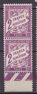 N°42 Taxes 2f Violet: Une Paire De 2  Timbres Neuf Sans Charnière Impeccable - 1859-1955 Postfris