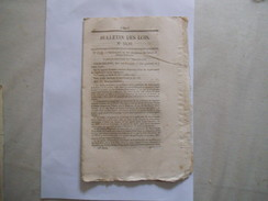BULLETIN DES LOIS N° 1430 DU 9 NOVEMBRE 1847 ORDONNANCE QUI PROCLAME DES CESSIONS DE BREVETS D'INVENTION - Décrets & Lois