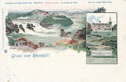 GRUSS VOM RHEINFALL - N° 996 - HOTEL BELLE VUE (DESSIN DE K FUCHS) - SH Schaffhouse