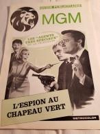 "Guide Publicitaire MGM Cinéma ""L'Espion Au Chapeau Vert"" Robert Vaughn David Mc Callum Jack Palance 1967 - Pubblicitari"