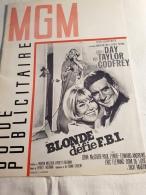 """Guide Publicitaire MGM Cinéma """"Blonde Défie F.B.I."""" Doris Day Rod Taylor 1966 - Pubblicitari"""