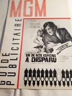 """Guide Publicitaire MGM Cinéma """"Un De Nos Espions A Disparu"""" Robert Vaughn David Mc Callum Jack Palance 1966 - Pubblicitari"""