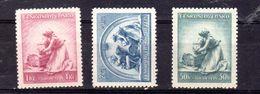 1937 Enfance Y 321 - 323** Mi 361 -363 ** Cote 4.90 € - Czechoslovakia