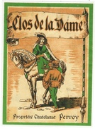 Rare // Perroy, Clos De La Dame, Chatelanat, Perroy Vaud // Suisse (cheval) - Etiquettes