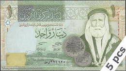 TWN - JORDAN 34h - 1 Dinar 2013 DEALERS LOT X 5 UNC - Giordania