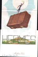 HERMES PARIS Carte De VŒUX Illustrateur GEORGES LEPAPE 1926 Toute L´Equipe D'HERMÈS DEAUVILLE En 1995 Foulard CARP - Scarves