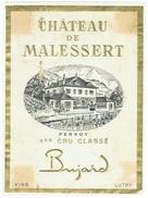 Rare // Perroy 1Château De Malessert 1er Cru, Bujard, Lutry, Vaud // Suisse - Etiquettes
