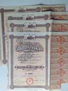 Action - Europe - France - Cie Des Chargeurs Français, Navigation - Paris 1920, - Action De 250 Frs - Lot De 4 Actions - Navigation