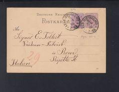 Dt. Reich GSK Mit ZuF 1886 Leer Nach Italien - Germany