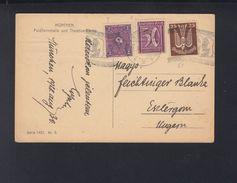 Dt. Reich AK München 1922 Nach Ungarn - Deutschland
