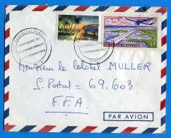 POLYNESIE (  POSTE  ) : Y&T  N°  30 + PA  5  BELLE  ENVELOPPE  DU  8  SEPTEMBRE  1966 , A  SAISIR . - Polynésie Française