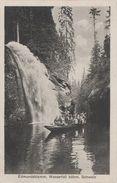 AK Böhmische Schweiz Klamm Edmundsklamm Wasserfall Felsen Kahnfahrt Boot Herrnskretschen Hrensko Stimmersdorf Rainwiese - Sudeten