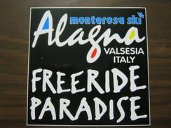 Z3 ITALIA ADESIVO ALAGNA VALSESIA VERCELLI MONTEROSA SKI SCI FREERIDE PARADISE - Sport Invernali