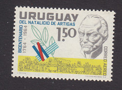 Uruguay, Scott #C274, Mint Hinged, Artigas And Wagontrain, Issued 1965 - Uruguay