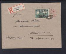 Dt. Reich R-Brief 1920 Göpingen Aufdruck - Briefe U. Dokumente
