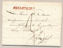 Nederland - 1829 - Complete Vouwbrief Van AMERSFOORT (PEP 8030-04zn) Naar Brussel - ...-1852 Voorlopers