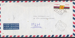 Spain Por Avion BANCO CENTRAL Registered Certificado CEUTA 1993 Cover Letra BALLERUP Denmark ATM / Frama Label (2 Scans) - 1931-Heute: 2. Rep. - ... Juan Carlos I