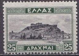 GREECE 1933 Landscapes II Keyvalue 25 Dr. Green / Black  Vl. 475 MH - Griekenland