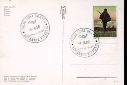25493 Italia, Special Postmark 1968 Cima Grappa,  50^ Anniversario Vittoria, 50th Victory Anniversary (first War) - Prima Guerra Mondiale