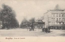 Bruxelles. - Porte De Louvain. Dos Simple. Brasserie St-Michel. Animation. Vers 1900 Ou Avant. - Avenues, Boulevards