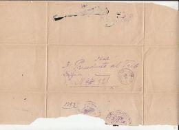 CLOSED LETTER, SENT FROM LOCO IN BUZAU, 1882, ROMANIA - Briefe U. Dokumente