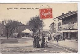 Rhône - Cours - Grande Rue Et Place De La Mairie - Cours-la-Ville