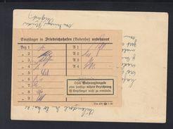 Dt. Reich GSK 1934 Aulendorf Nach Friedrichshafen Unbekannt - Storia Postale