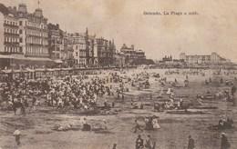 CPA OSTENDE. - La Plage à Midi. Voyagée 1908 - Oostende