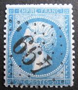 LOT R1494/75 - NAPOLEON III N°22 - GC 499 BLERANCOURT (Aisne) INDICE 5 - 1862 Napoleon III