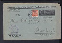 Czechoslovakia Cover 1931Turcianski St. Martin - Czechoslovakia