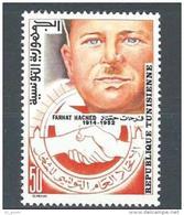 """Tunisie YT 882 """" Effigie De Farhat Hached """" 1978 Neuf** - Tunisia"""