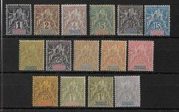 MADAGASCAR -  YVERT N°28/42 * CHARNIERE LEGERE  - COTE = 220 EUROS - - Madagascar (1889-1960)