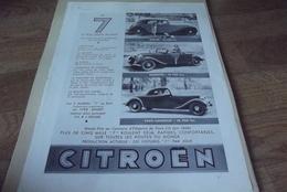 Publicites Illustration Citroen Traction Avant 7 - Werbung