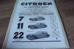 Publicites Illustration Citroen Traction Avant - Werbung