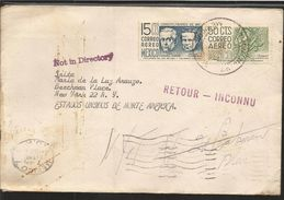 A) 1961 MEXICO, GOMEZ FARIAS Y MELCOR OCAMPO, CONSTITUENTS OF 1857, ARCHAEOLOGY OF CHIAPAS, AIRMAIL, CIRCULATED COVER FR - Mexico