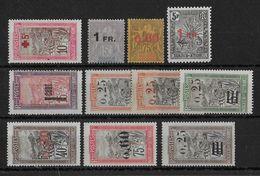 MADAGASCAR -  YVERT N°121/130 ** SANS CHARNIERE (SAUF 3 PETITES VALEURS *)  - COTE = 290 EUROS - - Madagascar (1889-1960)