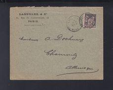 Lettre 1897 Paris Pour Chemnitz - Poststempel (Briefe)