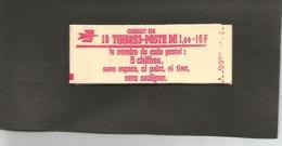 CARNET  1972 C2   Cote 23,00 Vendu à 15% - Usage Courant