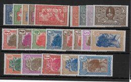 MADAGASCAR -  YVERT N°161A/178 * CHARNIERE LEGERE (SAUF QUELQUES RARES AVEC CHARNIERE FORTE) - COTE = 37.5 EUROS - - Madagascar (1889-1960)
