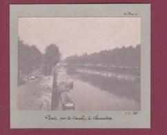 140917 - PHOTO 1905 - 94 CHARENTON Pont Sur Le Canal Péniche - Charenton Le Pont