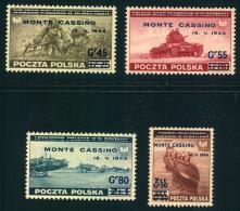 1944, MONTE CASSINO Issue MMNH Cpmplete - 1939-44: World War Two